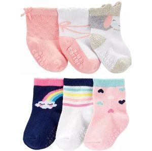 Carter's Bundle 3pk Crew Socks-Rainbow & Princes